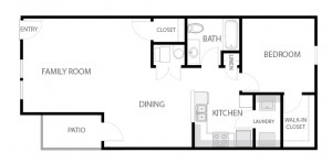 1 Bedroom Apartment Floor Plan-01