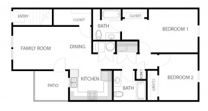 2 Bedroom Apartment Floor Plan-01
